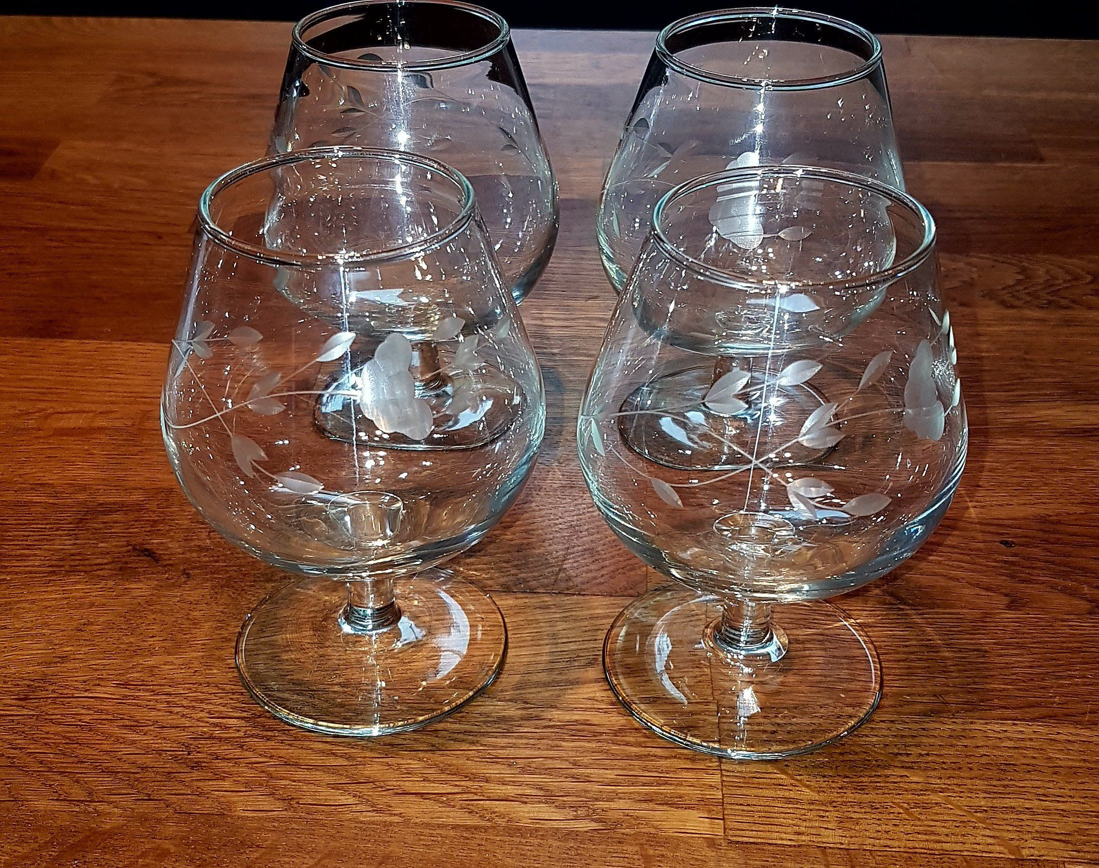Vintage Handcut Princess House Heritage Crystal Brandy Glasses Brandy Snifters
