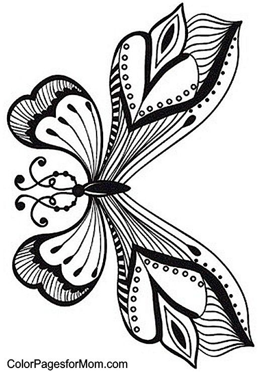 Butterfly Coloring Page 55 | Artists that inspire | Pinterest ...