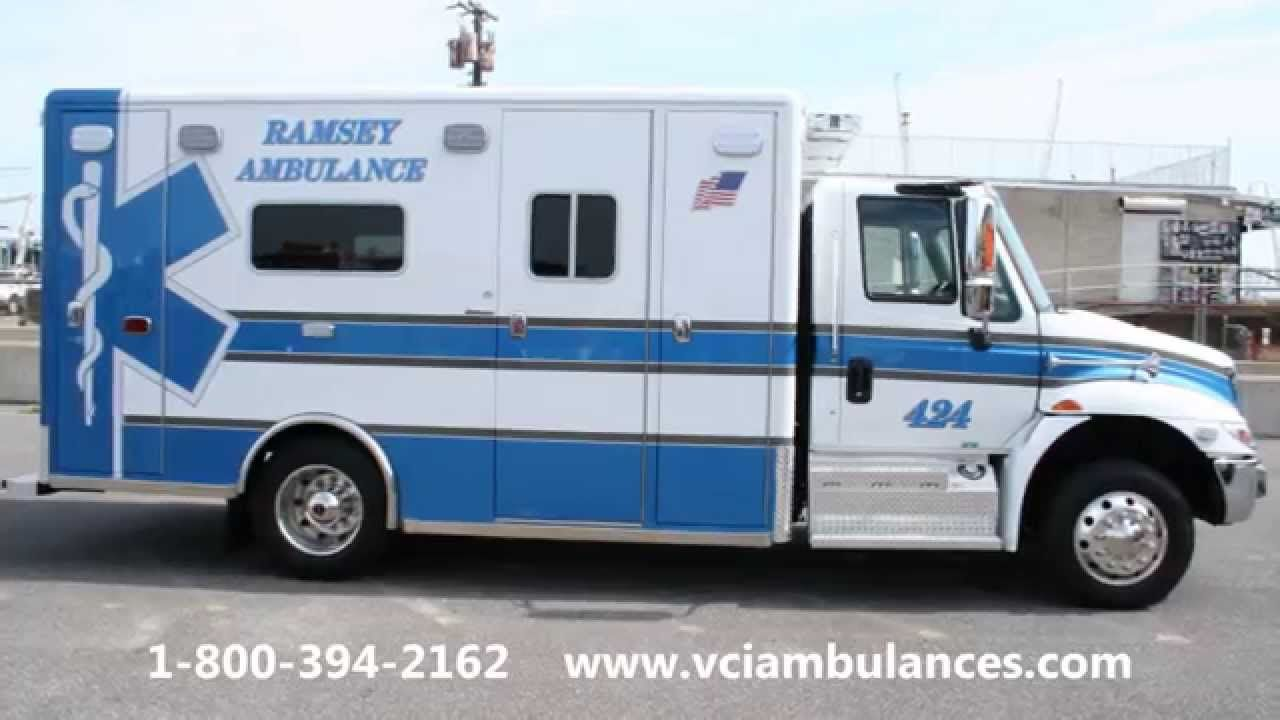 New Ambulance Delivery by VCI to Ramsey Ambulance 2015 Horton 623 16167 VCI Emergency Vehicle Specialists ans Scott McDermott delivered a 2015 Horton 623 International 4300 ambulance to Ramsey Ambulance Corps in NJ on September 4, 2014.  See more details at, http://vciambulances.com/deliveries/new-vehicles/2014-deliveries/2013-ramsey-ambulance-2015-horton-16167