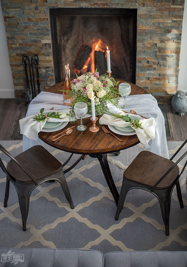 How To Create A Romantic Table For 2 On A Budget Romantic Table Setting Romantic Table Table Settings