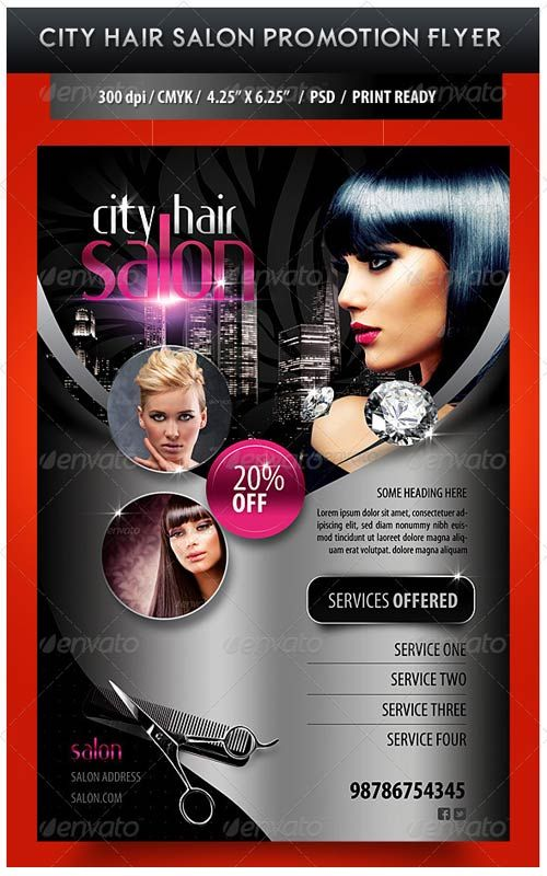City Hair Salon Flyer V2 by satgur.deviantart.com on @DeviantArt ...