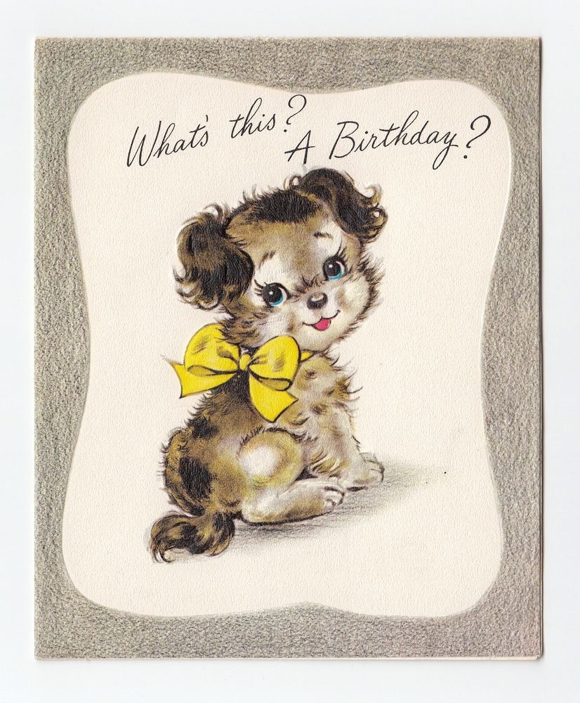 Vintage greeting card cute puppy dog birthday record player vintage greeting card cute puppy dog birthday record player greetings inc kristyandbryce Choice Image