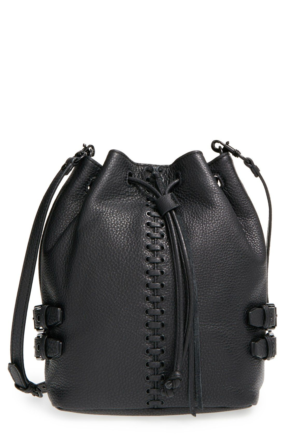 24a68f5084e6 Loving this edgy-yet-elegant bucket bag from Rebecca Minkoff. A slouchy  silhouette furthers the attitude, while an optional crossbody strap adds  both style ...