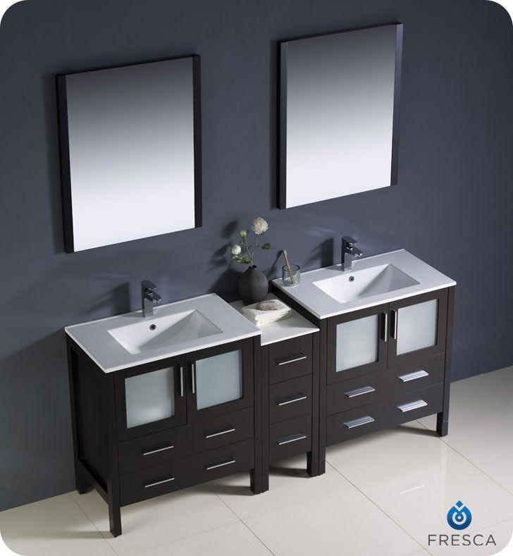 The Quot Fresca Torino Fvn Es Uns Modern Double Sink Bathroom - 72 inch modern bathroom vanity