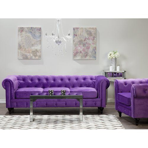 Fairmont Park Couto 2 Piece Sofa Set Purple Sofa Leather Sofa