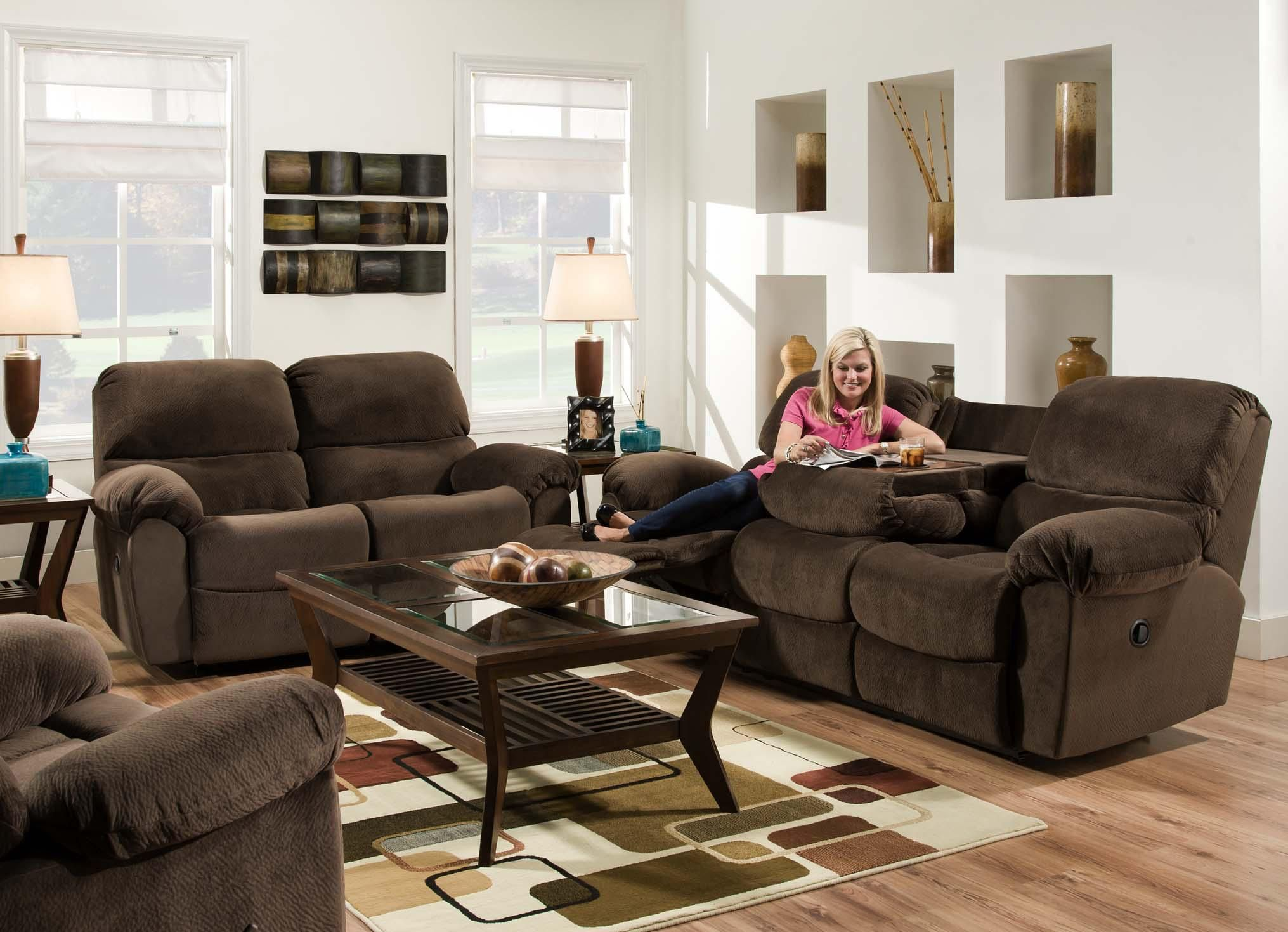 Af310 Reclining Living Room Group By American Furniture At