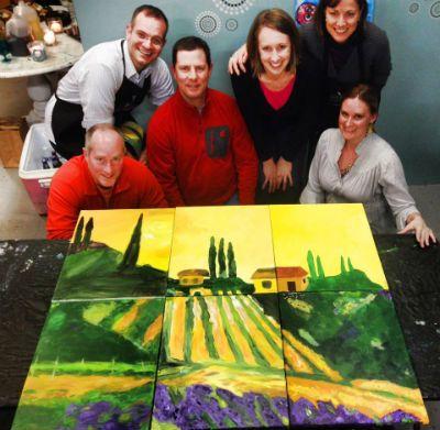 Team Building Wine And Design Mural Ideas Pinterest