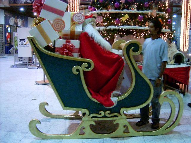 Trineo navide o display fotografico fibra de vidrio y for Trineo madera decoracion