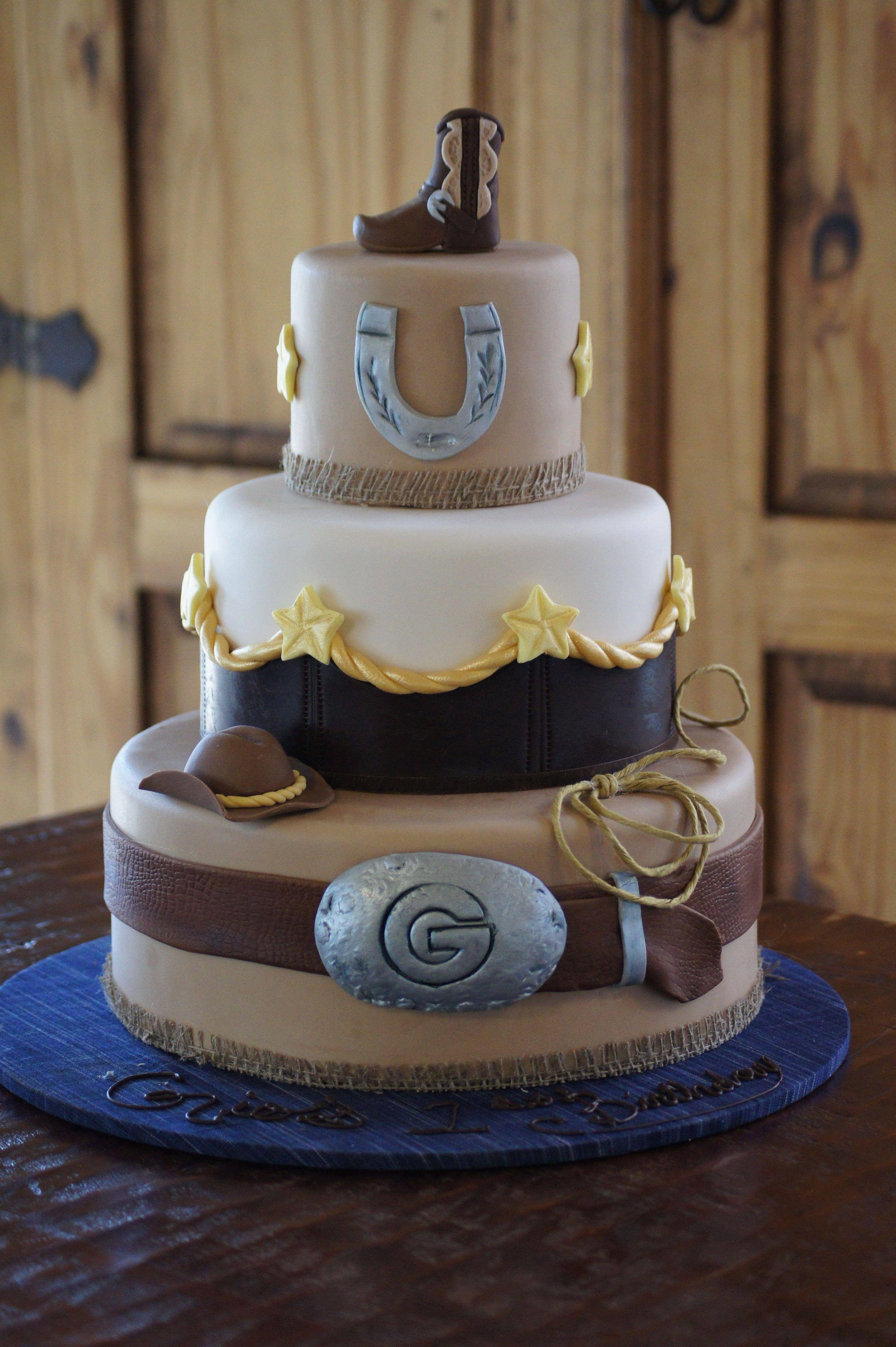 The blue cake company wedding cakes birthday cakes 2016 car release - Fondant Covered Wild West Cowboy Themed Cake Cowboy Partycowboy Wedding Cakescowboy Birthday