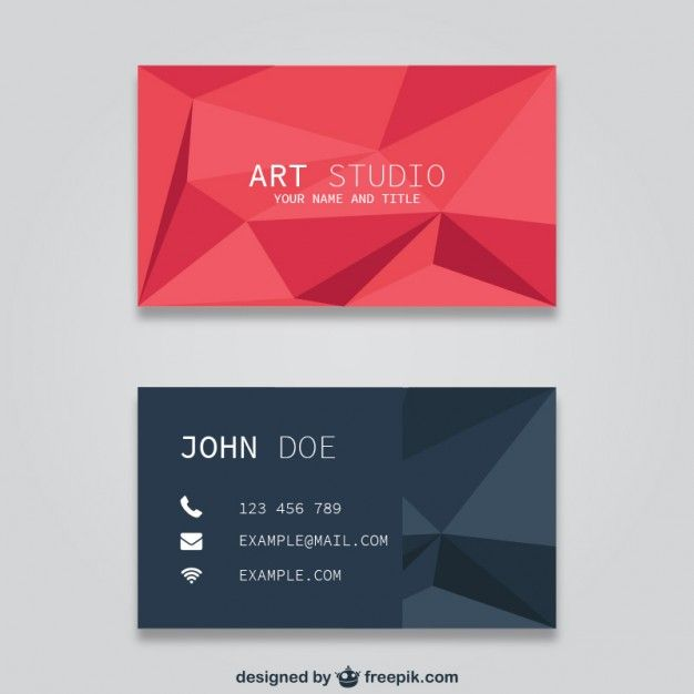 Cartões de visita poligonais Photoshop, Business cards and Business - free sample business cards templates