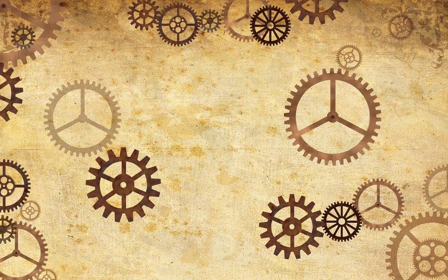 Steampunk Twitter Background By CatherinetteRings Clock Diy Halloween Wallpaper