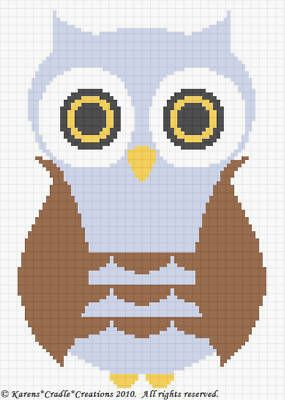 Owl baby afghan $4.95 for pattern