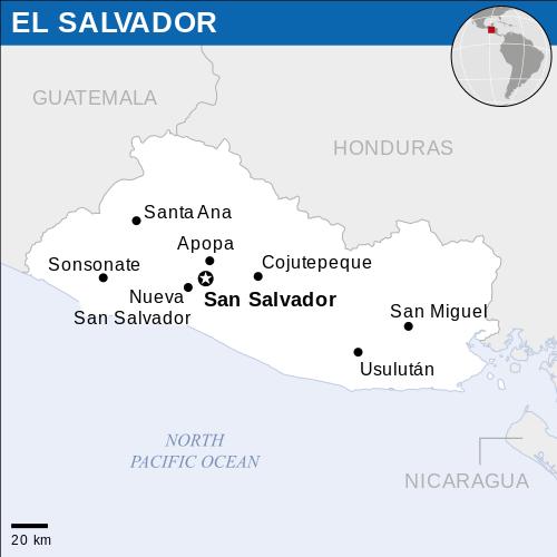 Location Of El Salvador Location Map El Salvador Salvador