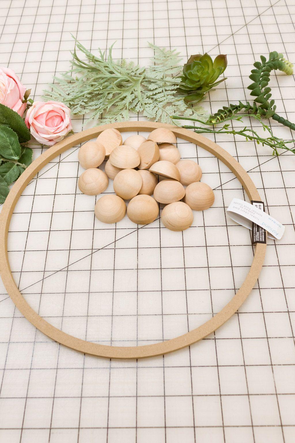 Photo of DIY Wood Bead Wreath