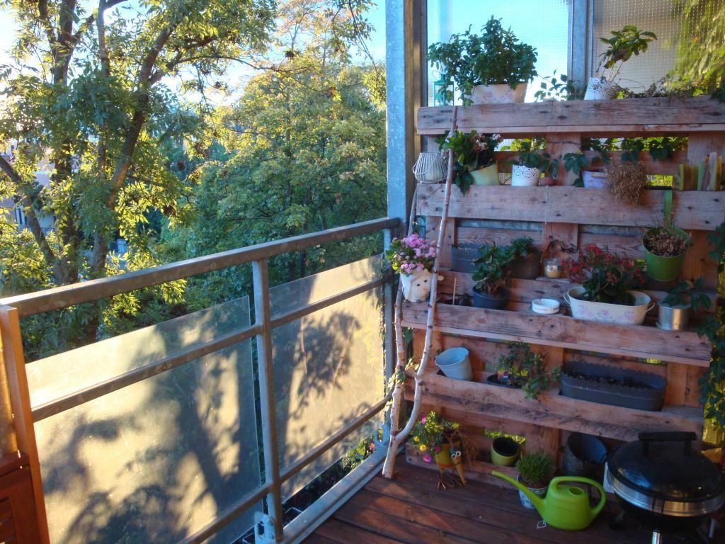 diy-regal für pflanzen auf dem balkon. #terrasse #balkon #garten