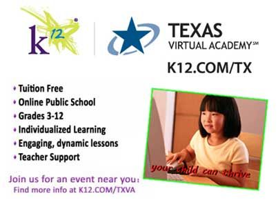The Texas Virtual Academy At K12 Is A Tuition Free Online Public