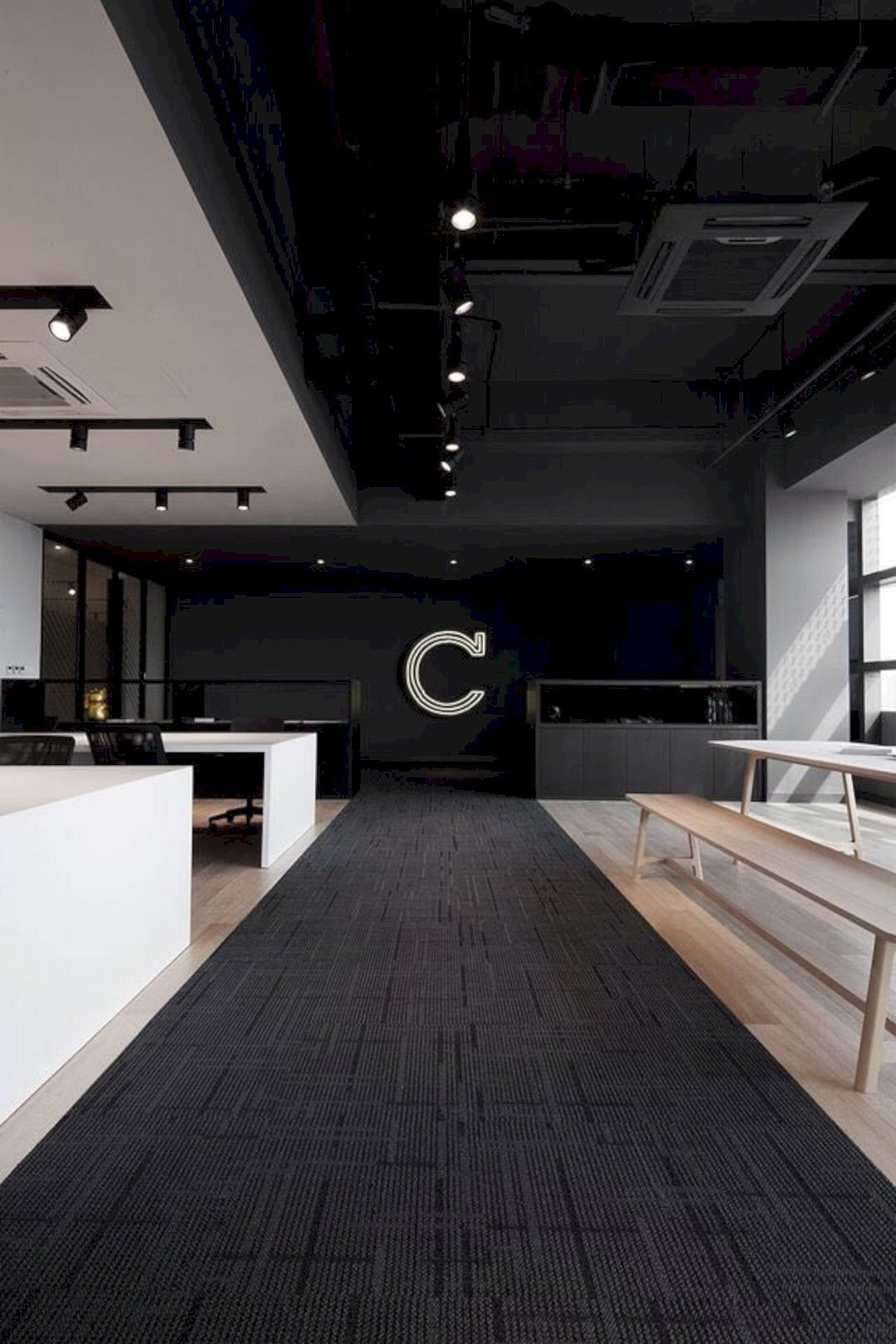 Office Interior: A Contemporary, Modern Workspace of the Design Studio