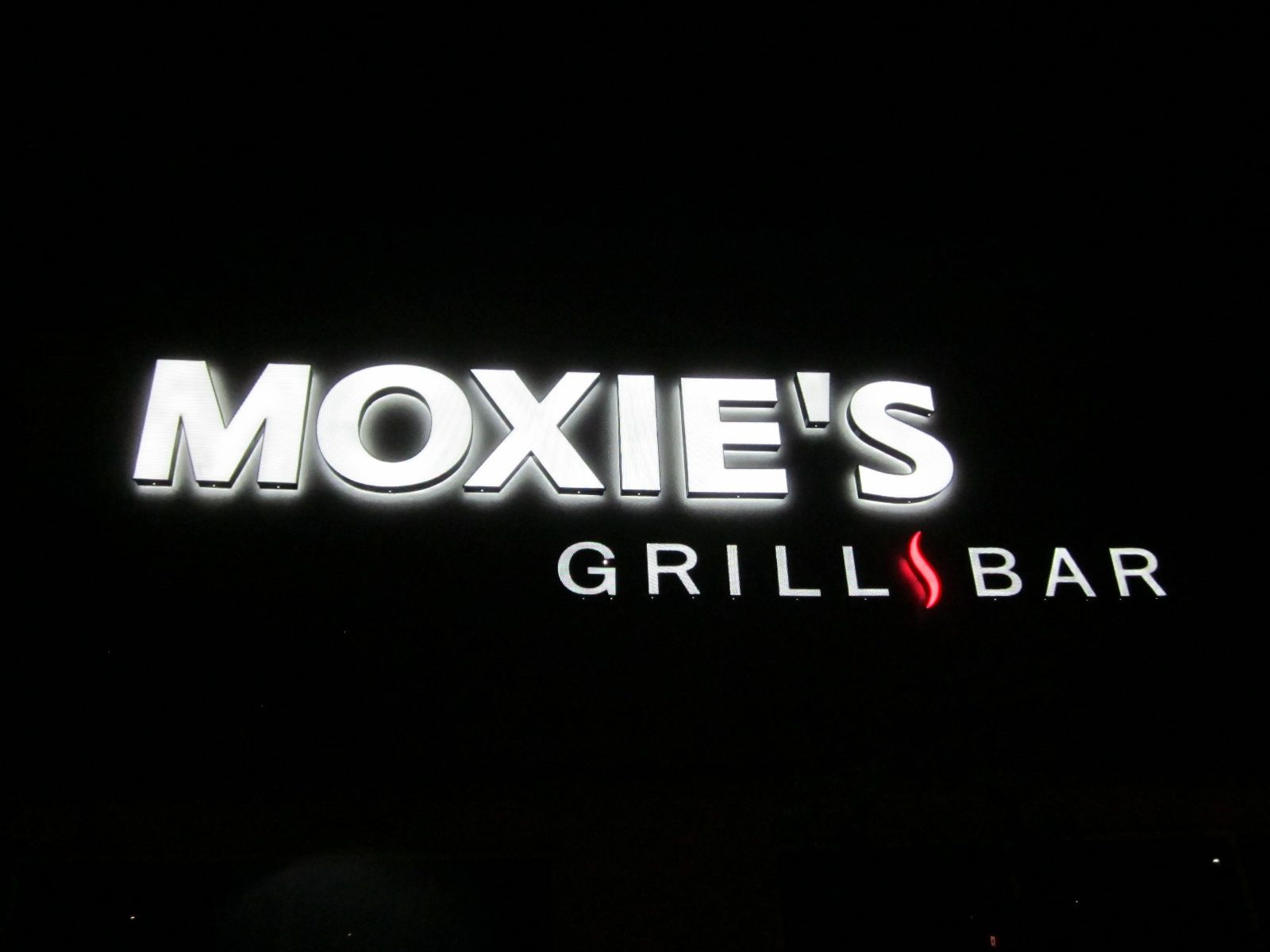 Moxie Here is a front/back lit channel letter set using