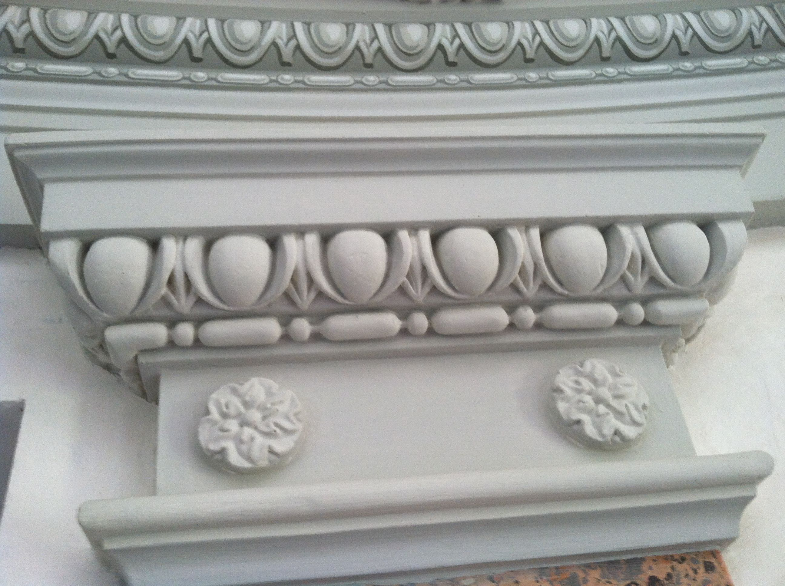 Carved Moldings mixed with hand painted moldings | Hand painted art