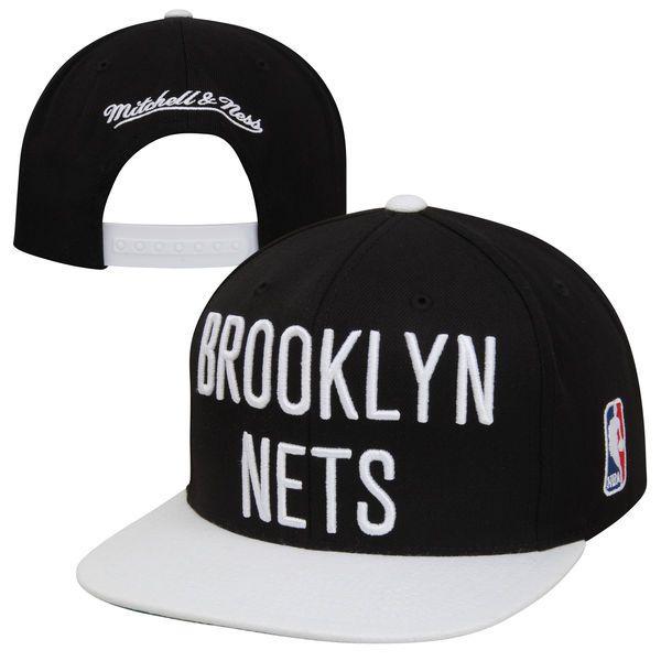 Mitchell   Ness Brooklyn Nets XL Logo Two Tone Snapback Hat 28758ebfbea
