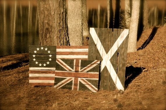 Rustic Reclaimed Pallet Wood Flags and by WreckageRedemption, $160.00