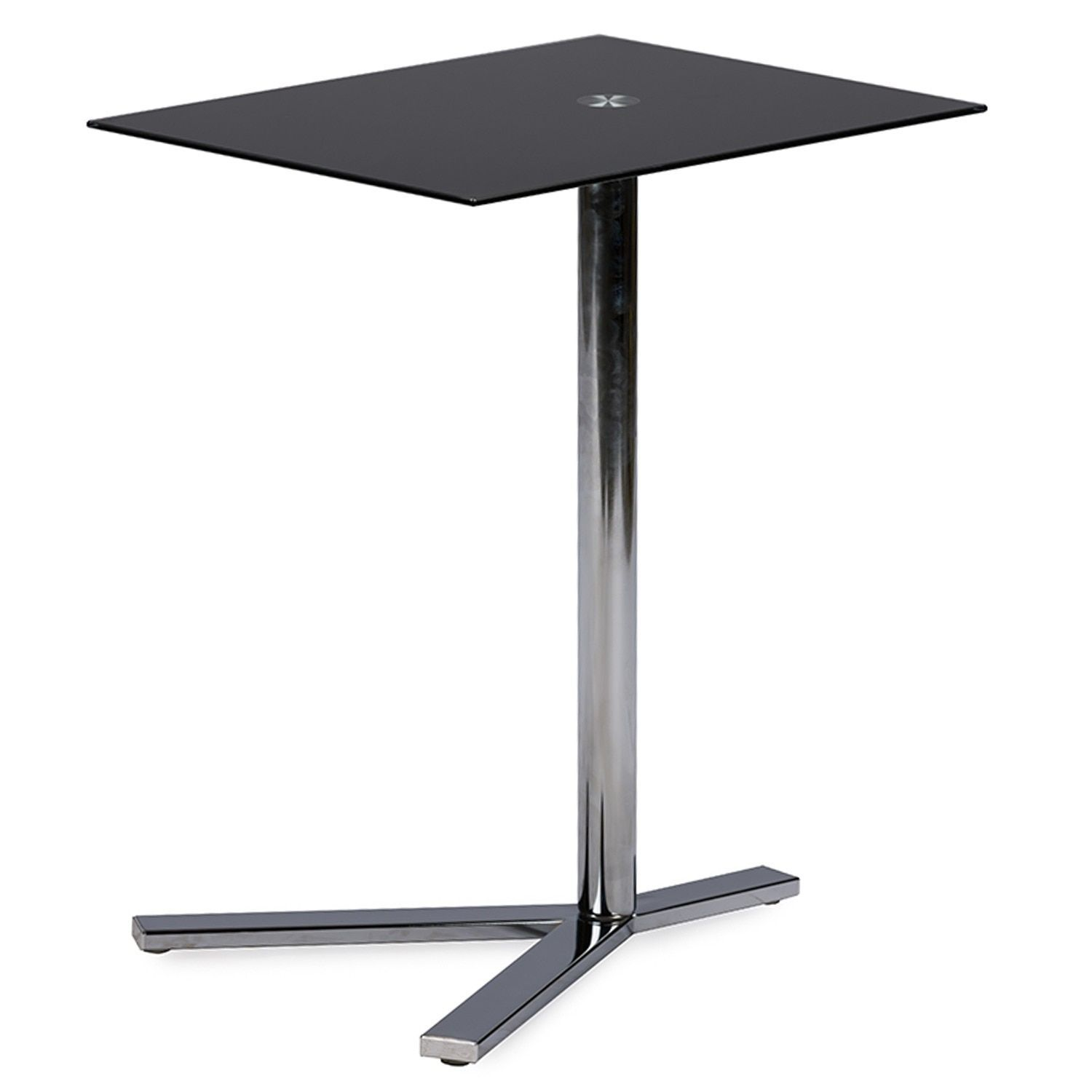 Baxton Studio Avolia Snack Table with Black Tempered Glass (Aking-59848)
