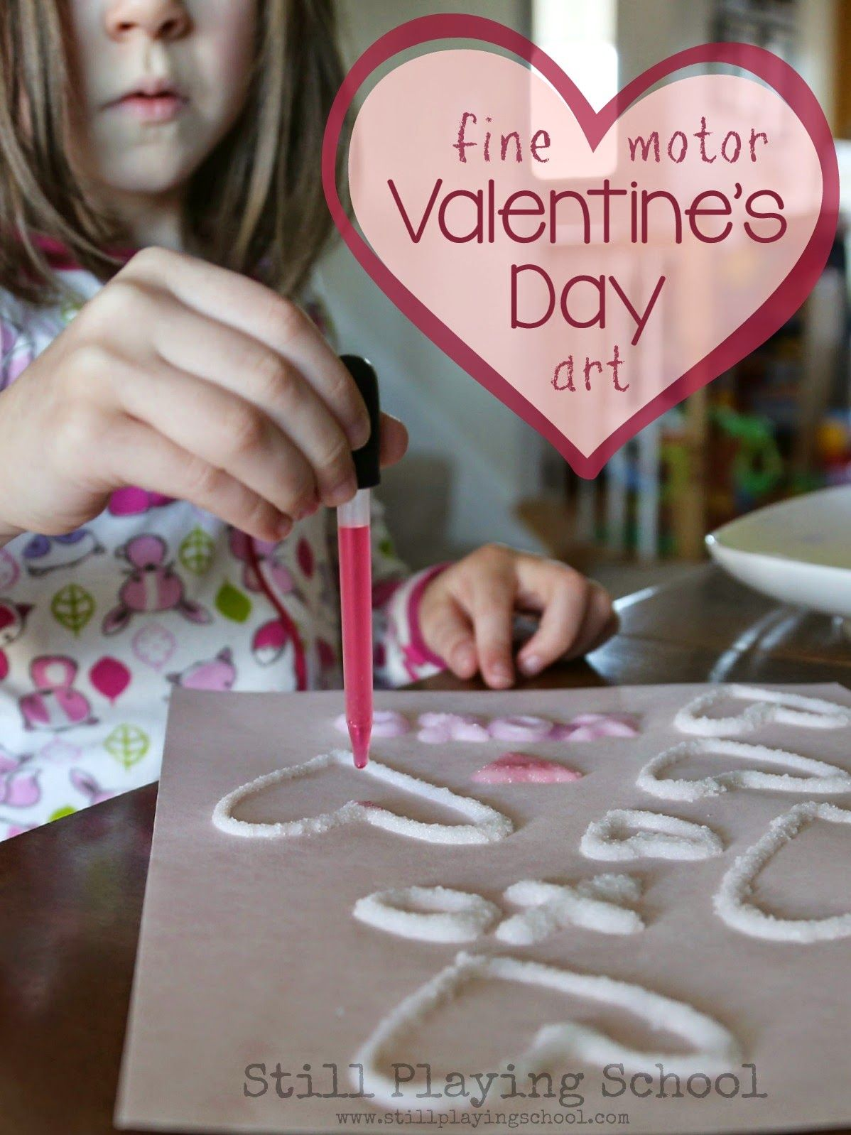 Salt And Glue Watercolor Hearts