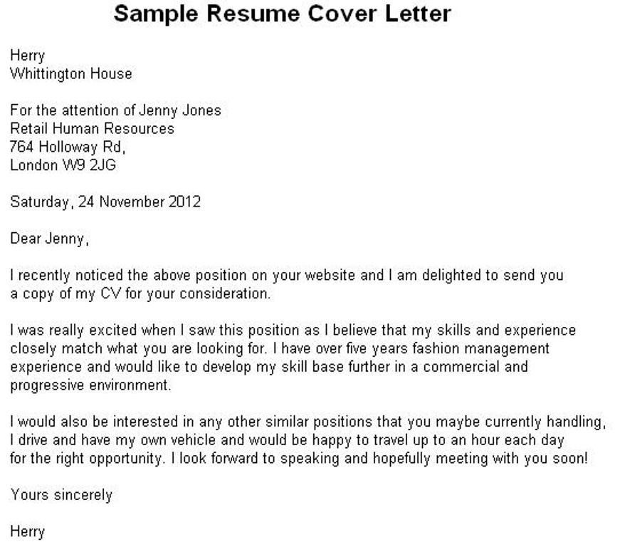 Free Resume Cover Letter Samples Sample Resumes Sample Resumes - sample resumes for management positions