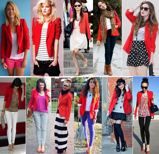 i am absolutely obsessed with red blazers right now! colored