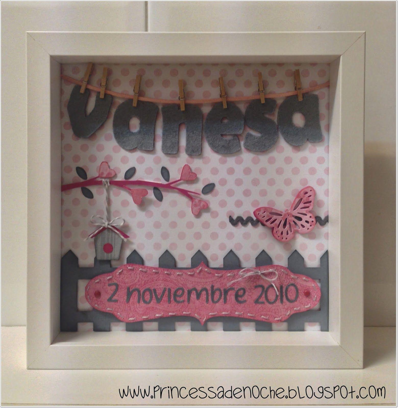Cuadro personalizado con nombre y fecha de nacimiento para decorar ...