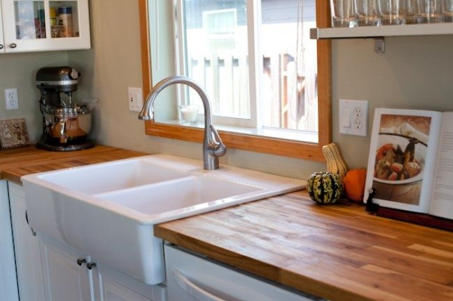 Pin By Beth Chevalier On For The Home Pinterest Butcher Block Countertops Antique White Kitchen Kitchen Cabinets And Countertops