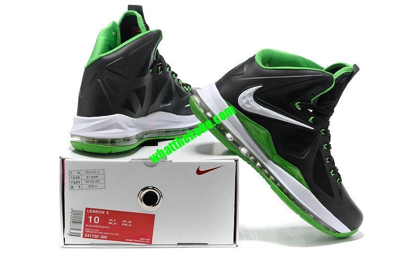 f062e2c3fe2 Nike Lebron 10 Dunkman Black Green 541100 300 | Cool shoes | Nike ...