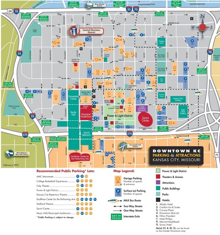 Kansas City downtown parking map | Kansas city downtown ...