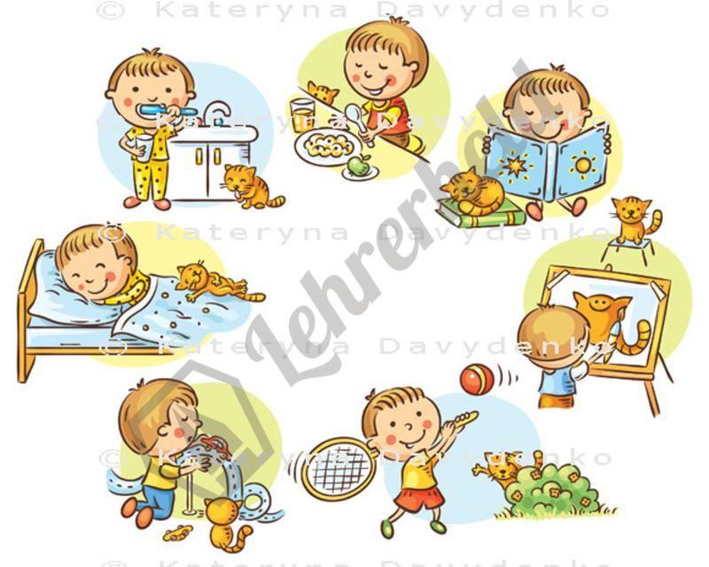 Tägliche Aktivitäten   Arbeitsblätter, Grundschulen und Schule