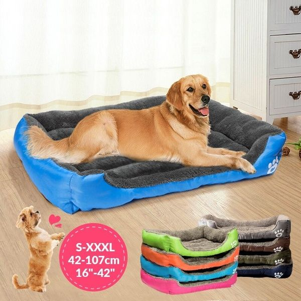 Large Dog Bed Puppy Cats Beds Multicolor Soft Waterproof Pets
