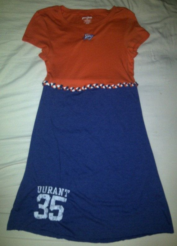 Short Sleeved Custom Game Day T Shirt Dress by GameDayStyle, $30.00