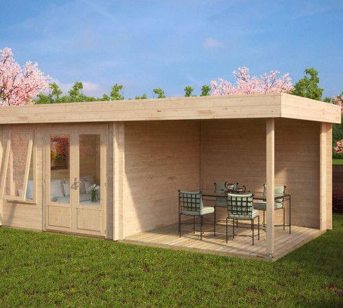 Modernes Gartenhaus Mit Dachterrasse Lucas D Hauschen Und Terrase