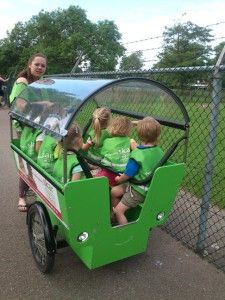 This is how Dutch daycares take the kids on an outing! ---- 'bakfiets'