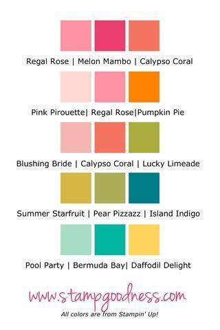 Pin By Kim Parker On Color Inspiration Color Combos Stampin Up Colours That Go Together