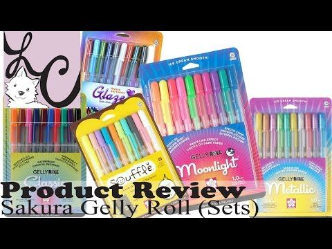 Art Supply Product Review Sakura Gelly Roll Sets 3 Demos Youtube Pens Markers Doodle Lettering Sakura