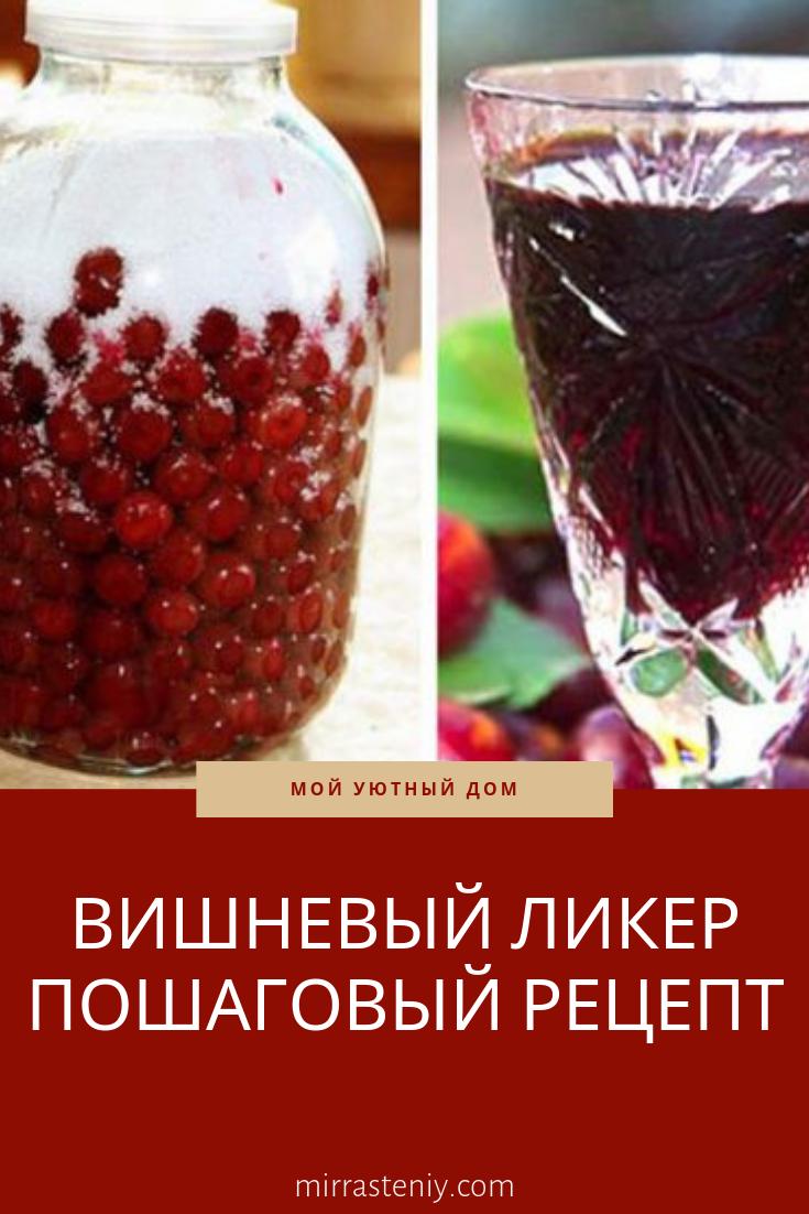 рецепт вишнёвый ликёр