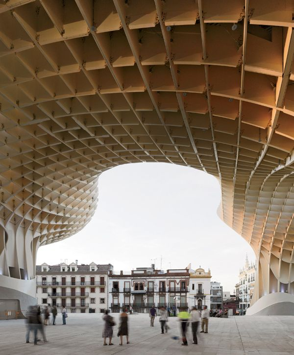 berlin based j mayer h architects designed metropol parasol an exuberant 140 000 square foot. Black Bedroom Furniture Sets. Home Design Ideas
