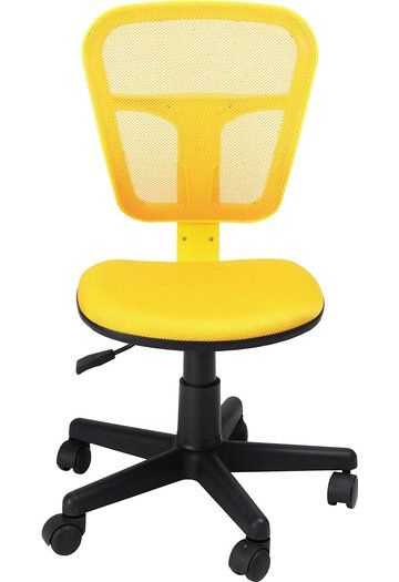 Homycasa Armless Swivel Office Mesh Computer Desk Chair Yellow Office Chair Chair Ergonomic Chair