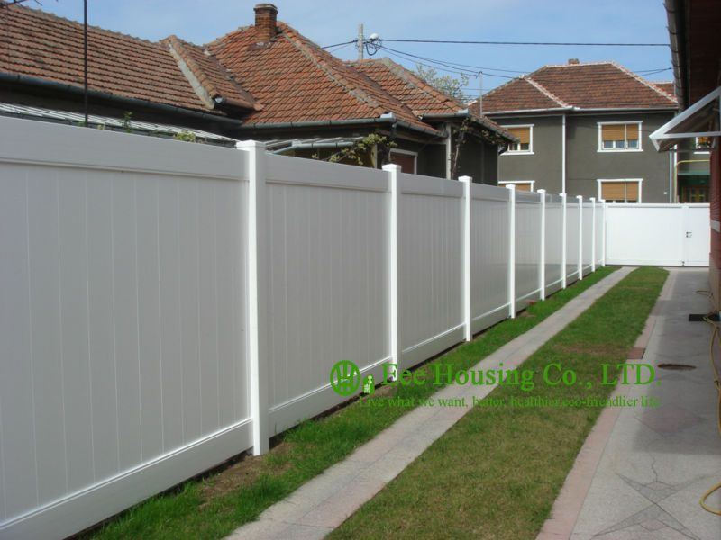 White Color Pvc Privacy Fence House Private Fence American Style Fence For Sale Outdoor Villa Fence Taman Indah Dekorasi Rumah Rumah