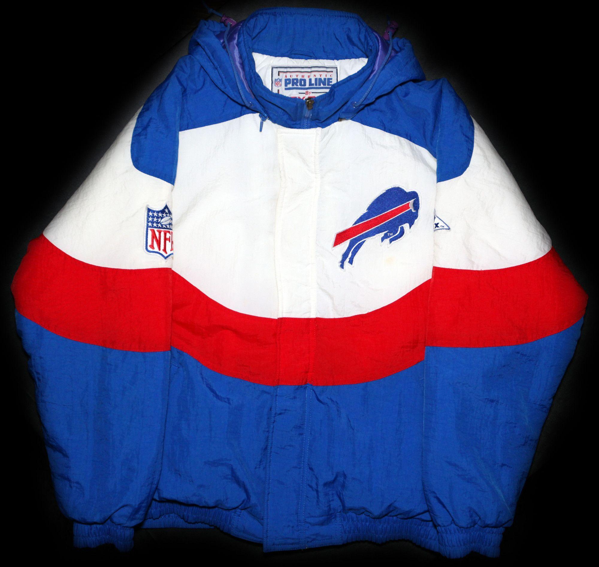 big sale 54542 a1432 Vintage 90's Buffalo Bills Apex One Authentic Pro-Line ...