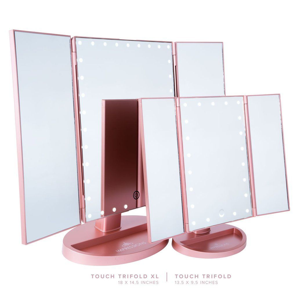Touch Trifold Xl Dimmable Led Makeup Mirror Impressions Vanity