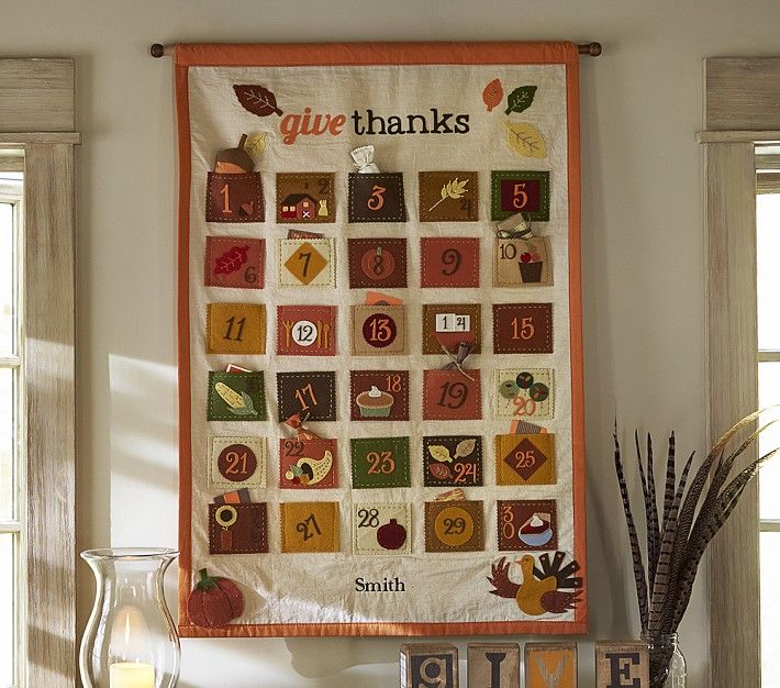 Give Thanks Thanksgiving Countdown Calendar Pottery Barn