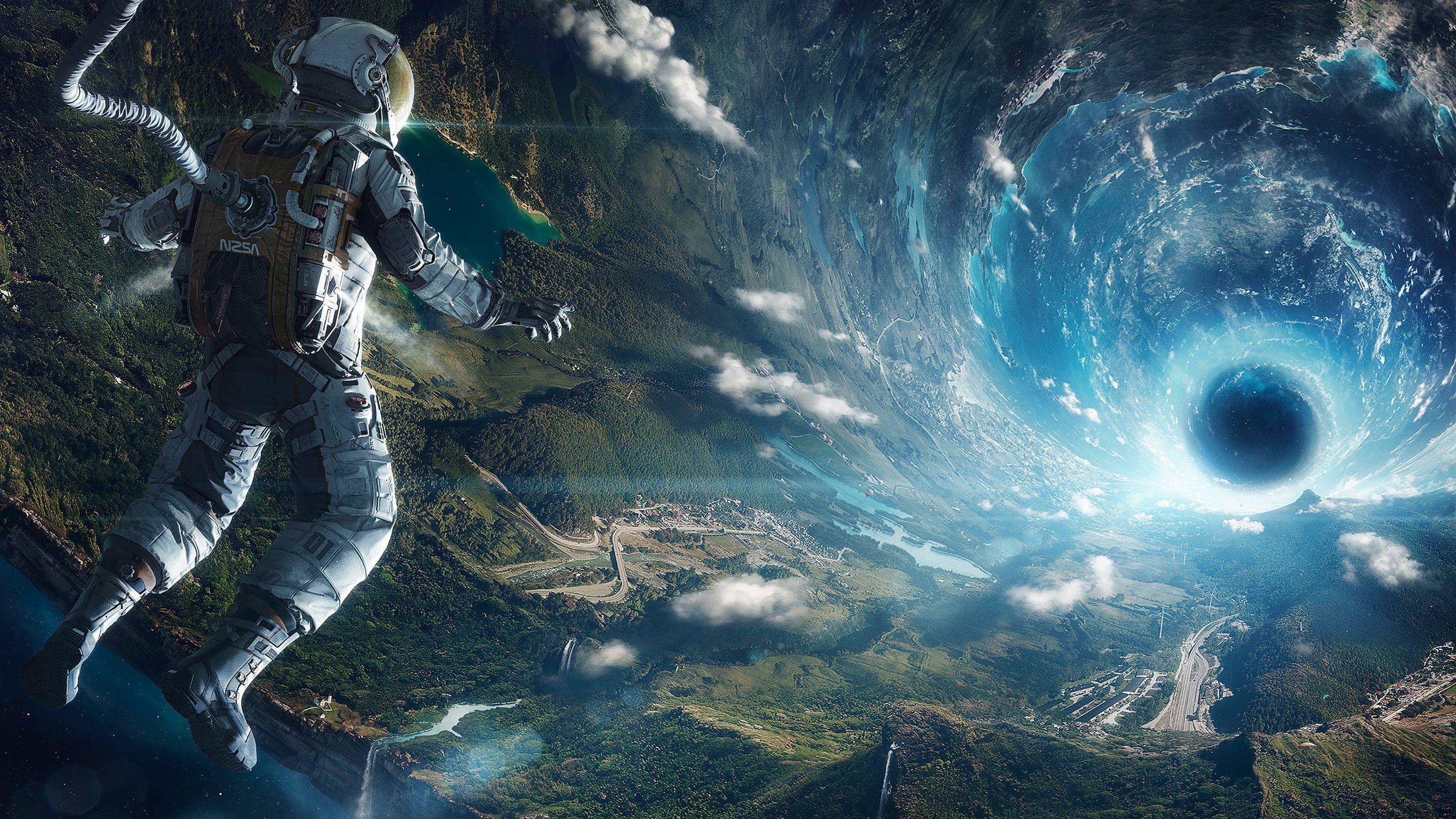Обои астронавт, земля. Фантастика foto 6