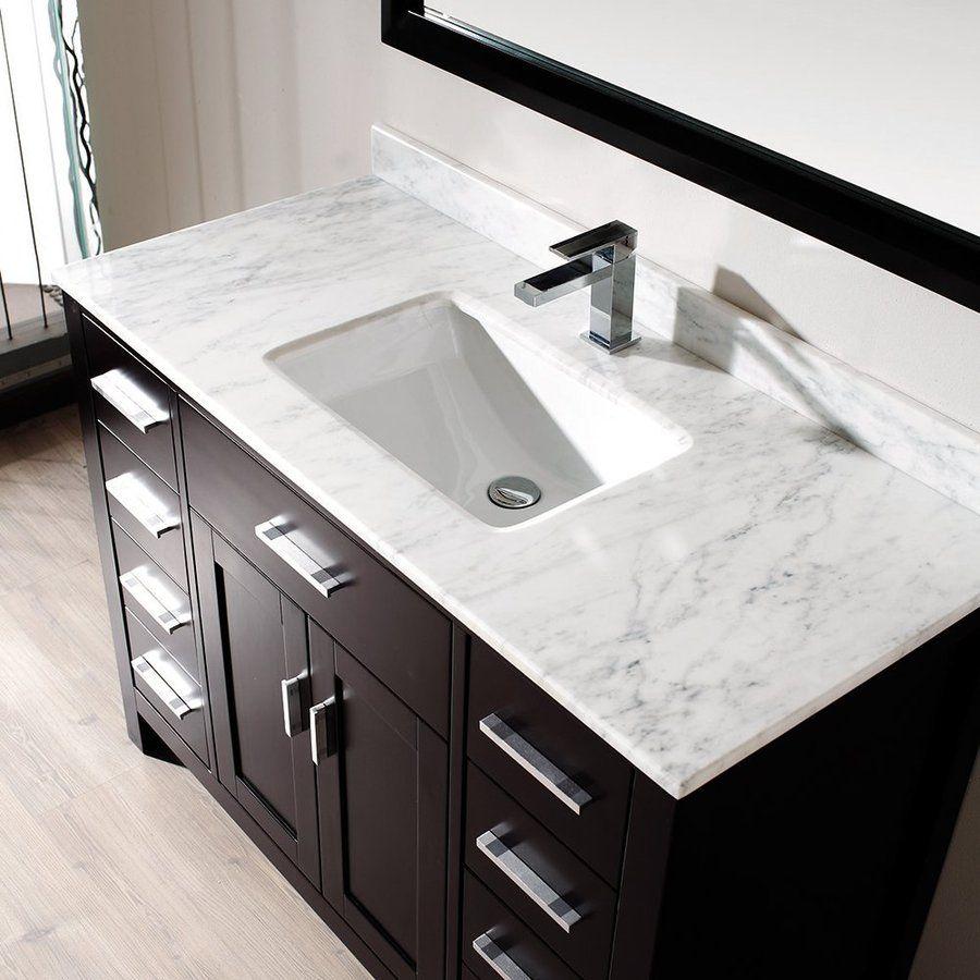 Shop Spa Bathe Kenzie Espresso Undermount Single Sink Bathroom