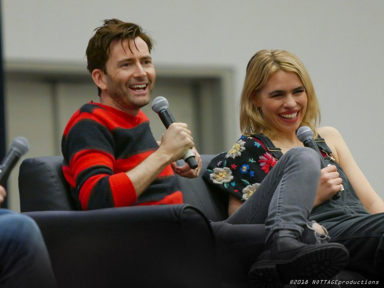 David and Billie at the Comic Con in Cleveland David tennant
